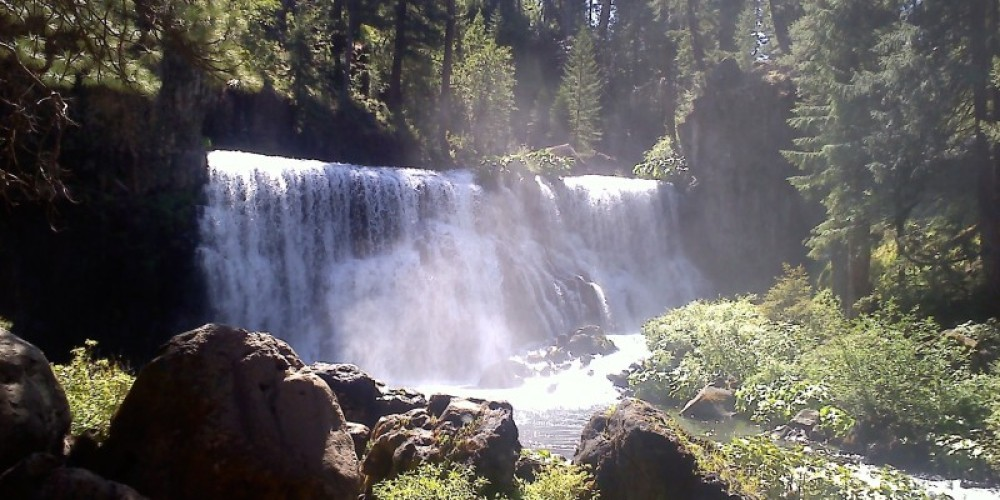 The McCloud MIddle Falls Falls – D. Kelby