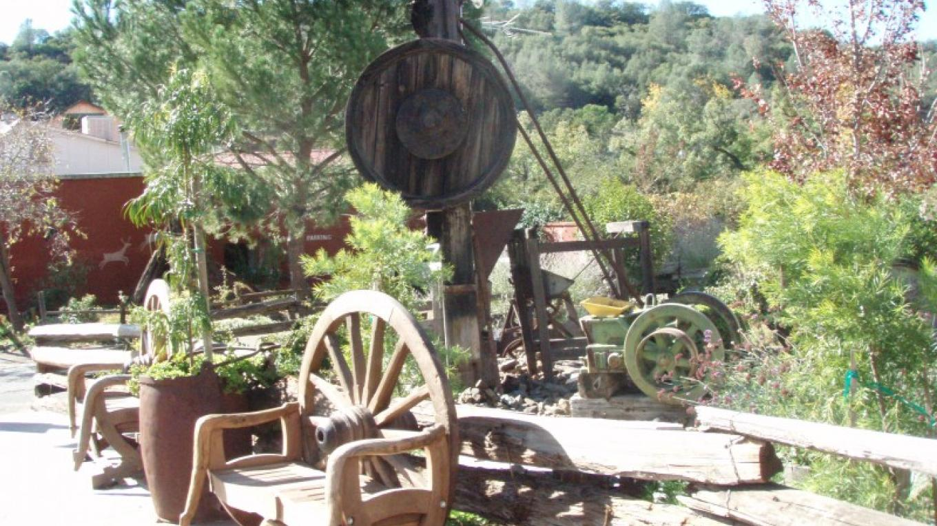 Three stamp mill from local mine. – Dale Silverman