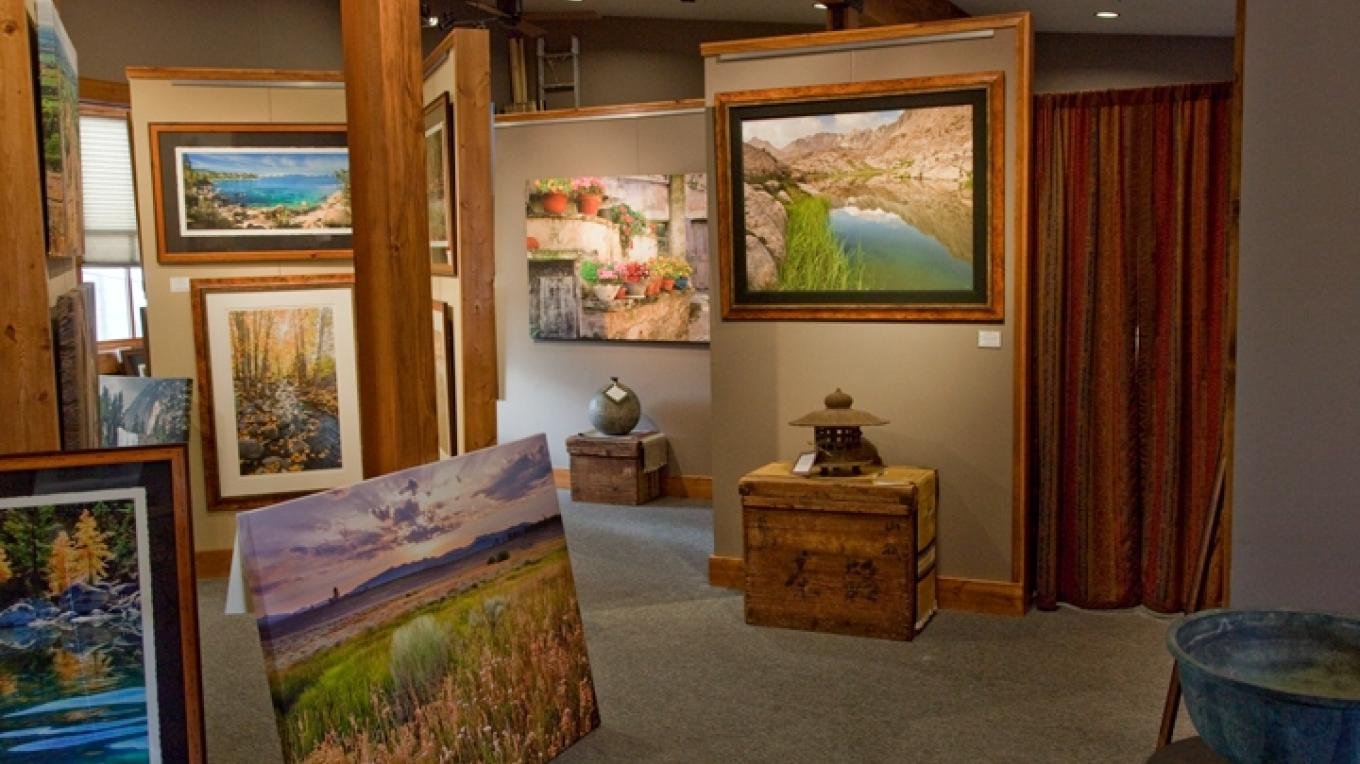 The 2600 sq. ft. Carmel Gallery has an additional upstairs gallery showcasing