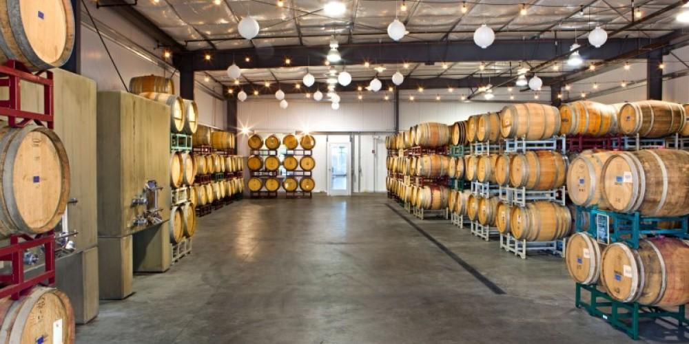 Andis Wines Barrel Room