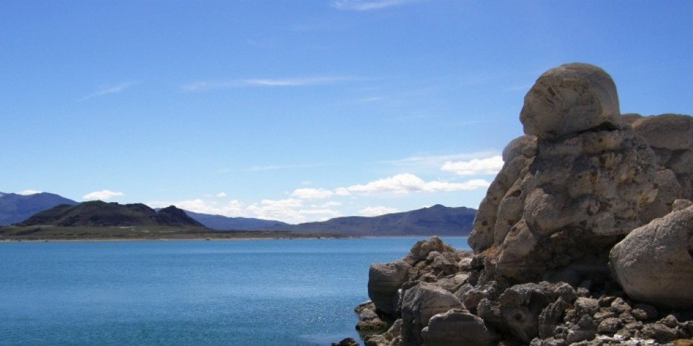 The Stone Mother and Anaho Island in Spring at Pyramid Lake – Scott H. Carey