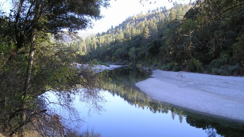 A narrrow waterway at Lake Englebright – Jeff George