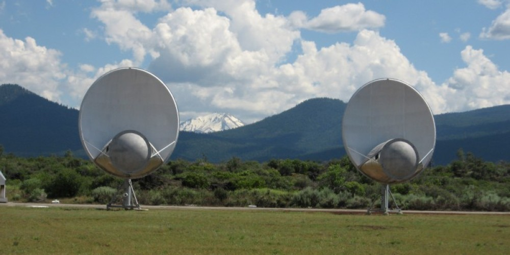 Dishes with Lassen Peak beyond. – Alicia Fitzgerald