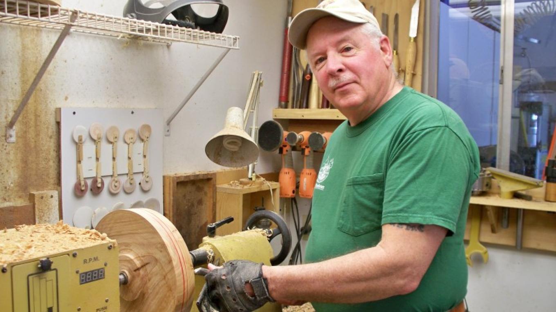 Phil Sargent, wood artist.