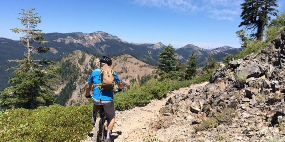 Soak in the natural beauty of the Sierra Buttes on the Downieville trail system – www.downievilleoutfitters.com