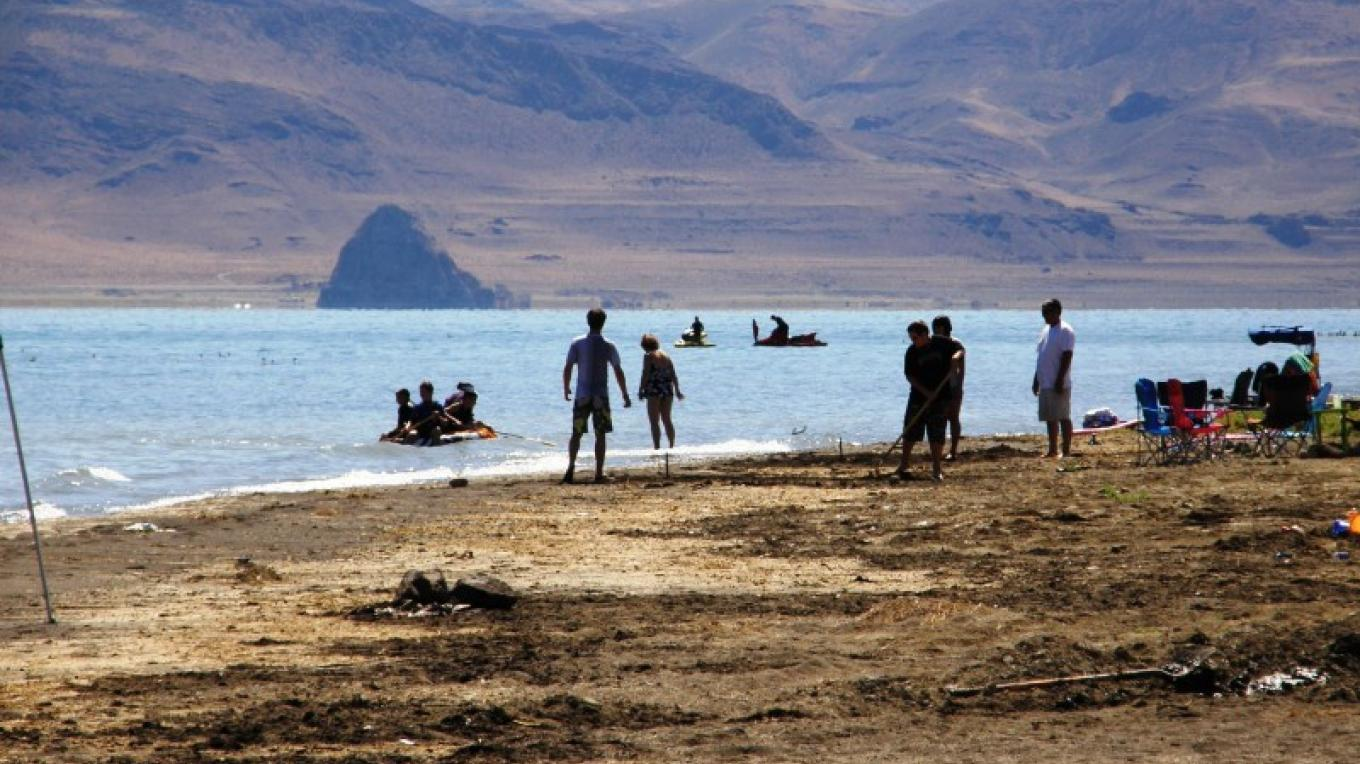 Visitors Enjoy a Summer Day at Pyramid Lake. – Scott H. Carey