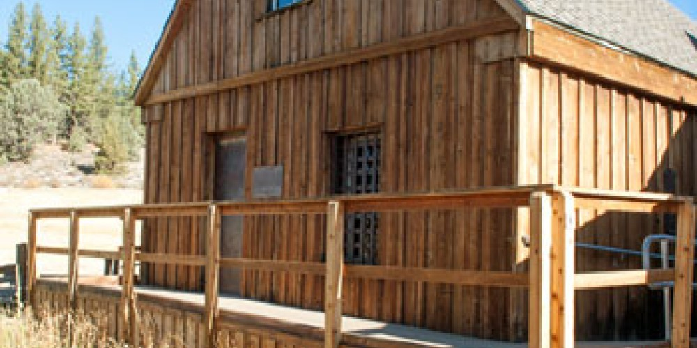 The Old Log Jail in Markleeville is now part of the Alpine County Historical Complex. – Noe Hill Travels California