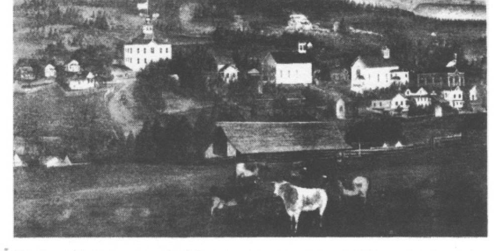 This is a painting of the Jewish settlement in Jackson, which no longer remains. – www.geschichteinchronologie.ch