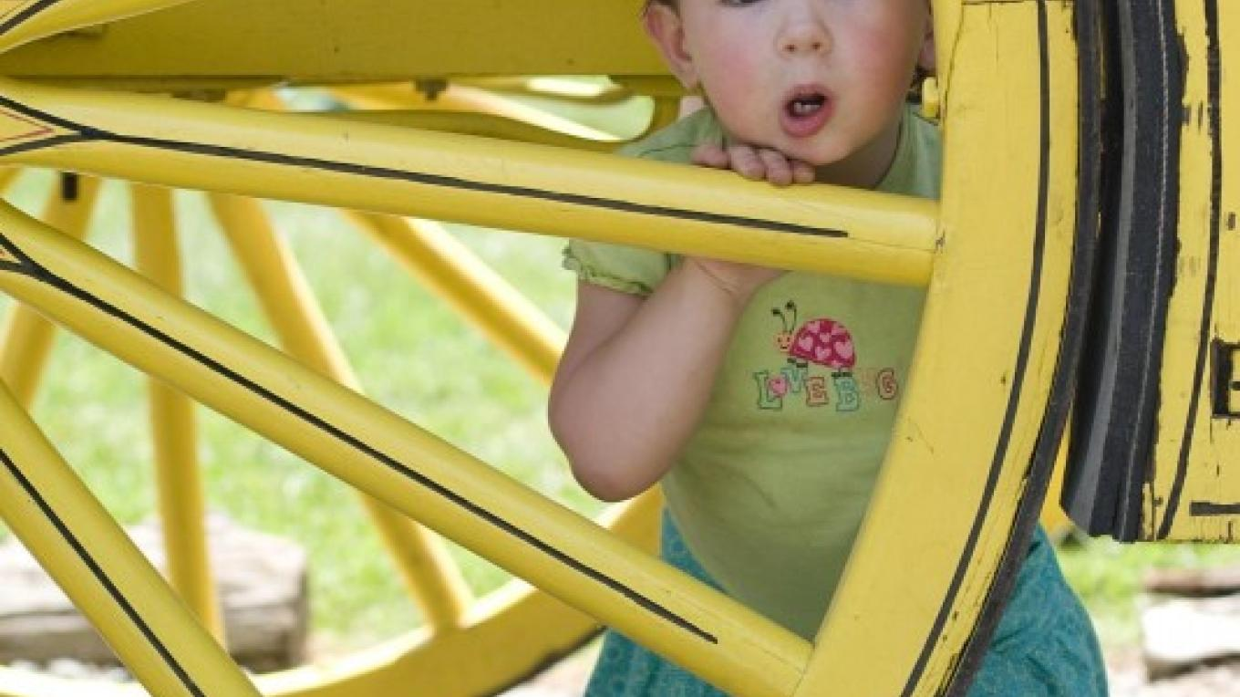 Girl in a Wagon Wheel – Placer County Museums