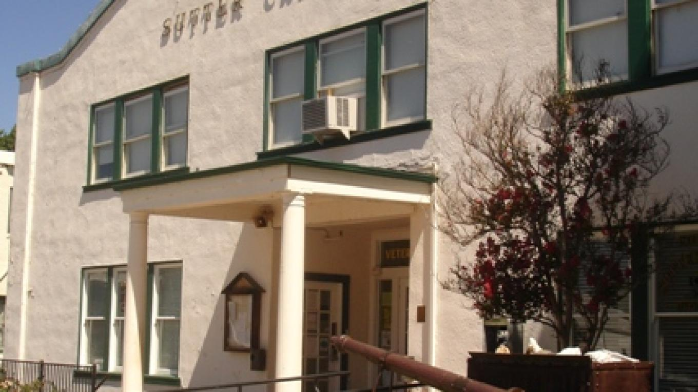 Sutter Creek Auditorium, built in 1928, is still used today for the Police Department, City hall, and town meetings. – Klosowski