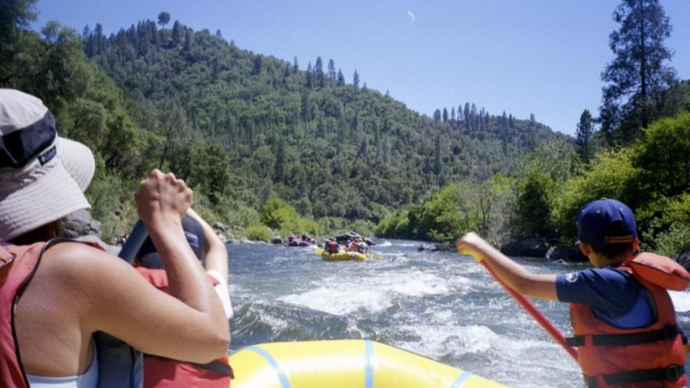 """The entrance to the South Fork American River Gorge is heralded by the famous """"Lollipop Tree""""."""
