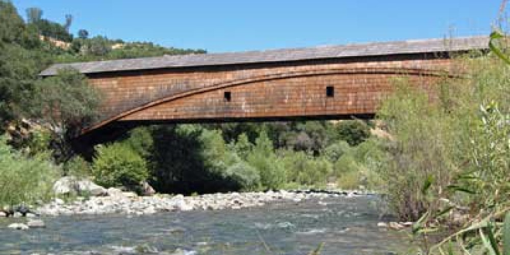 The longest single span covered bridge in the nation. – South Yuba River Park Association