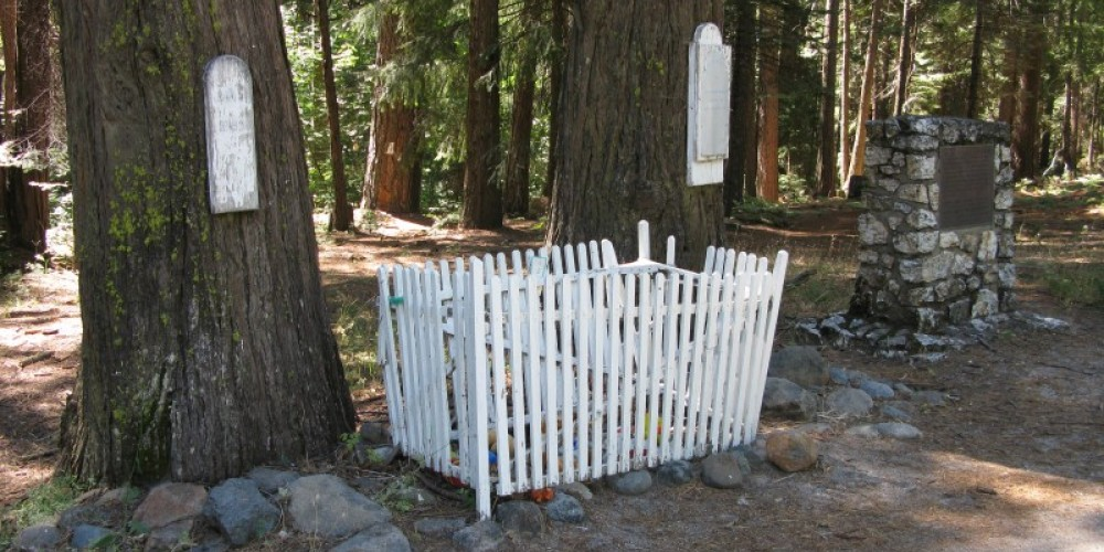Lone Grave historical monument on Hwy 20, Emigrant Trail-Nevada City route – Linda Chaplin
