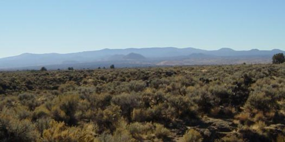 Medicine Lake Volcano from Captain Jack's Stronghold in Lava Beds National Monument – Lava Beds National Monument