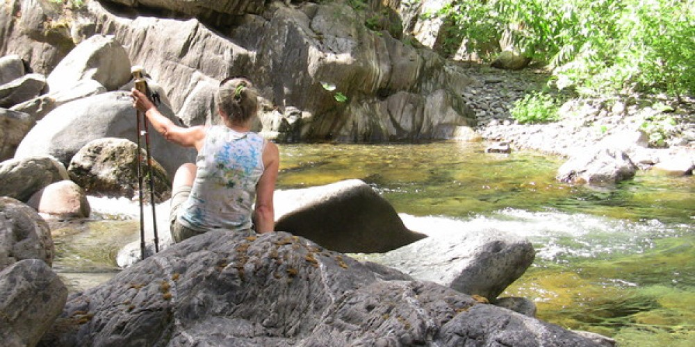 Relaxing at Bogus Thunder, North Fork of the Middle Fork American River. – Bill Mash