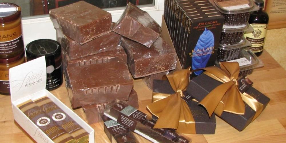 Both dark and milk chocolates temp the aficionado. – Karrie Lindsay