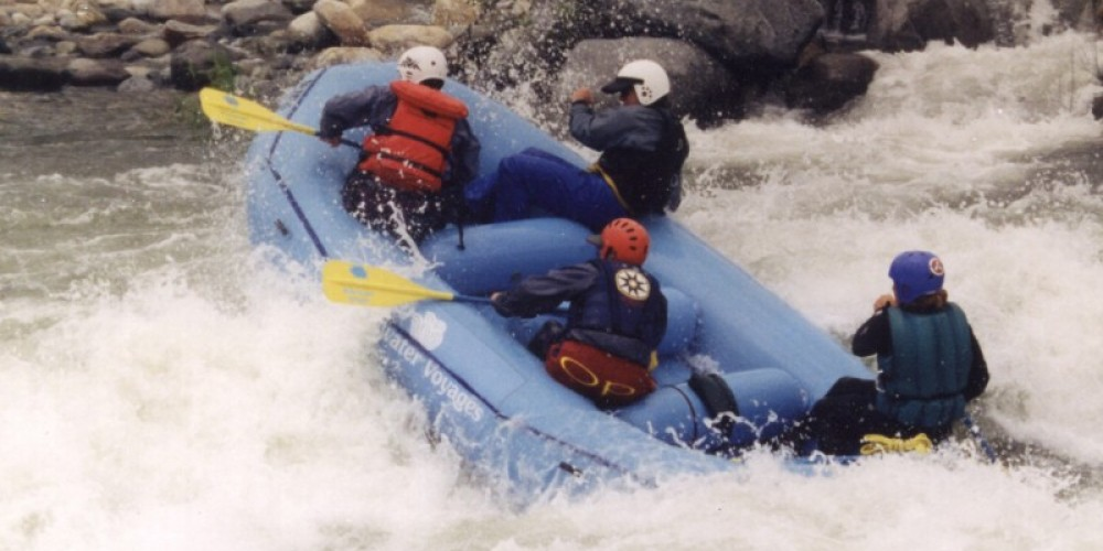 Whitewater rafting on the Main Fork of the Kaweah River, near the Gateway Restaurant and Lodge, Three Rivers, CA – Sylvia Durando, used with her permission