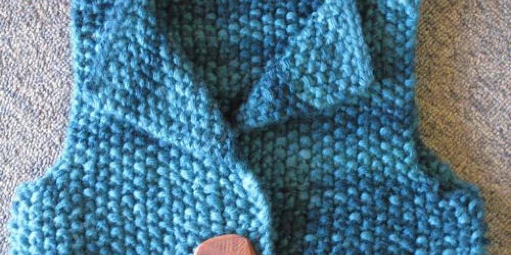 Two Skein Vest in Dream Big soy silk – Jana Botkin