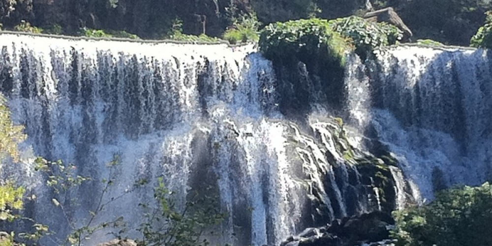 The McCloud Middle Falls, the largest falls amongs three waterfalls found a 2.2 mile hike. The Upper and Lower Falls are accessible by car. – by Allison Scull