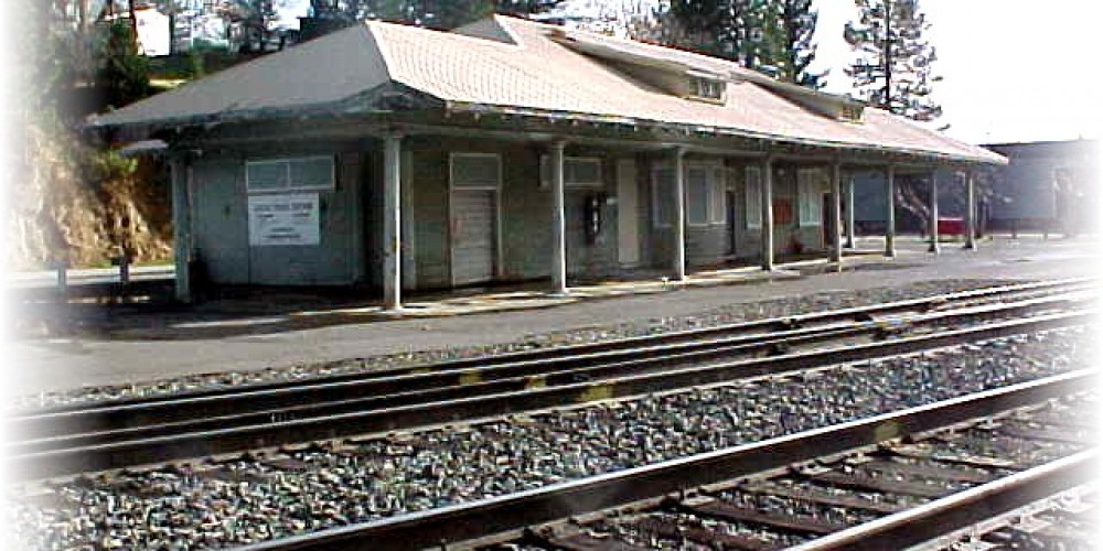 Colfax Station before restoration – Foothill.net