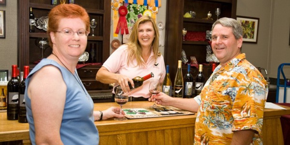 Tasting Room at Birdstone Winery – Bob Marcotte