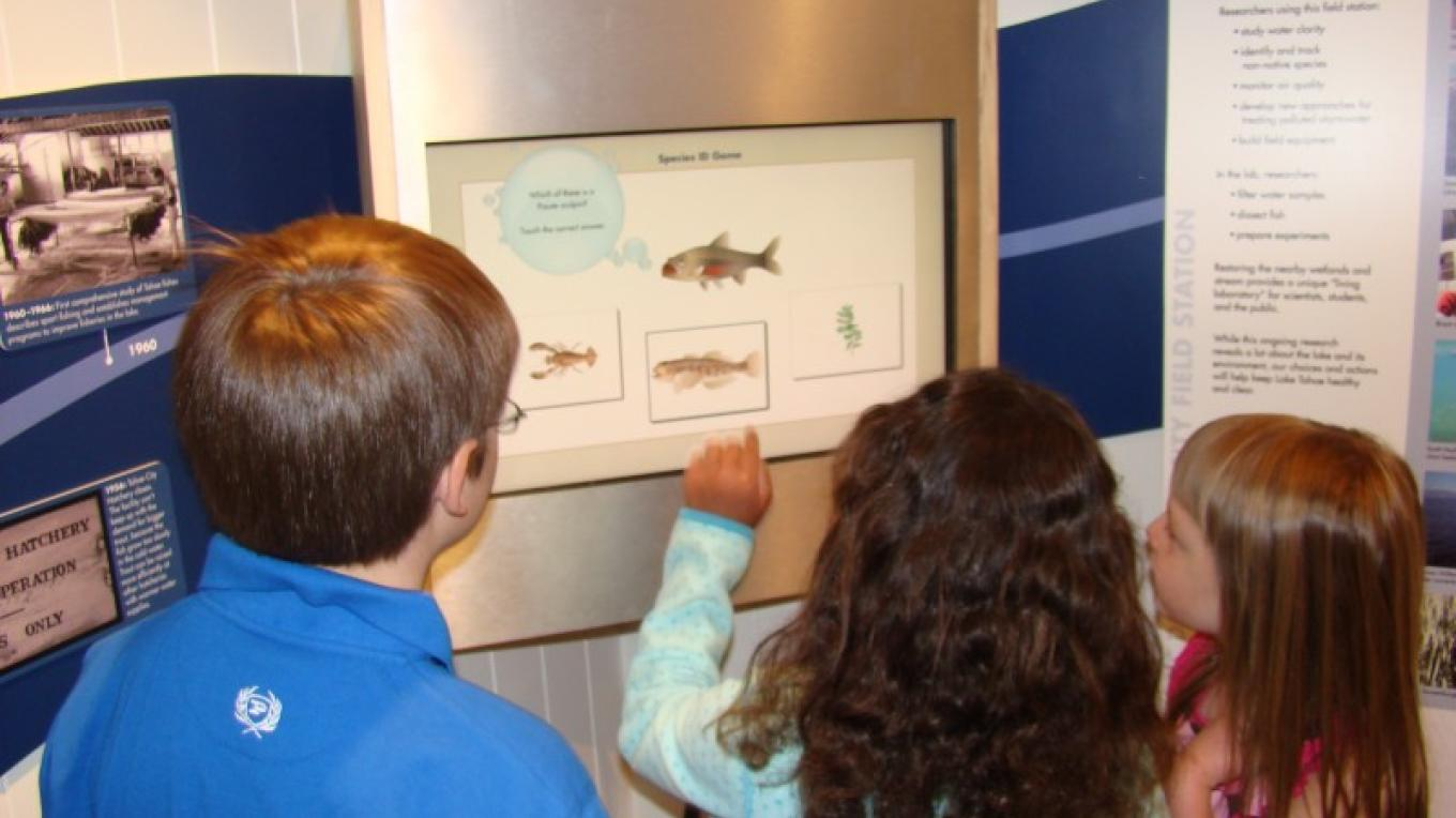 Touchscreen exhibit teaches about aquatic species of Lake Tahoe – Heather Segale