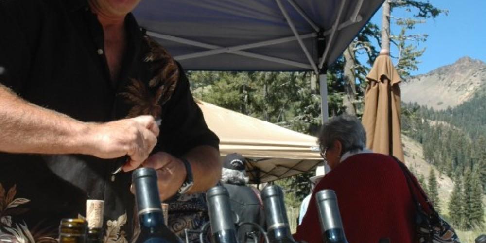 Manton's Lassen Peak winery displays their locally grown wines – NPS Photo