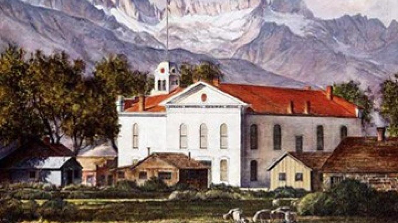 Richard Coons, Mono County Courthouse, Bridgeport, California, 40x60, oil/Belgian linen – Coons Gallery