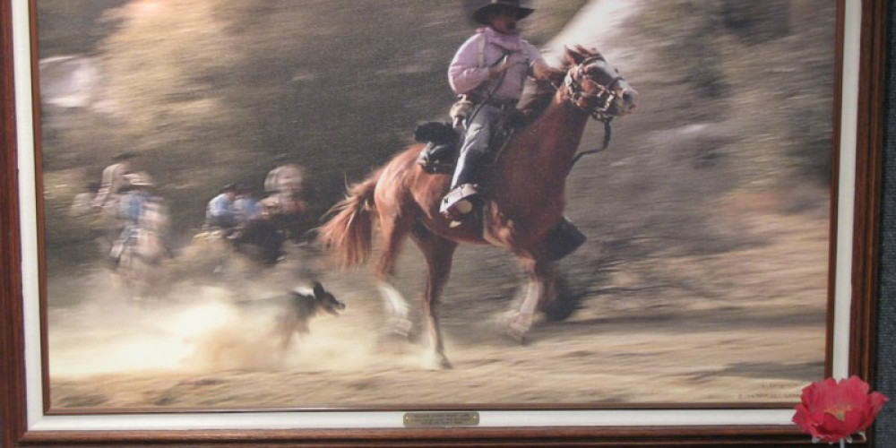 """""""William Lynns Posse"""" Chuck Barbee Geclee print on Canvas – Charles Topping"""