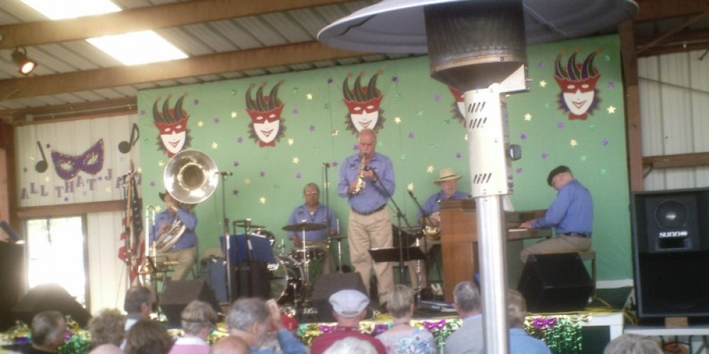 Jazzaffair, our world-famous local band, High Sierra, in concert at the LIONS Roping Arena venue, 2009 – Leah Catherine Launey