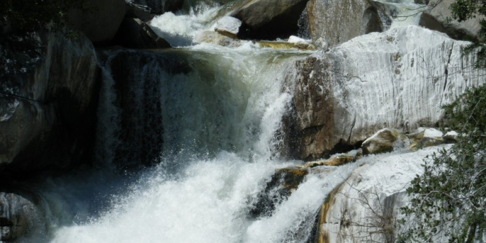 A section of the Marble Falls in early April – National Park Service