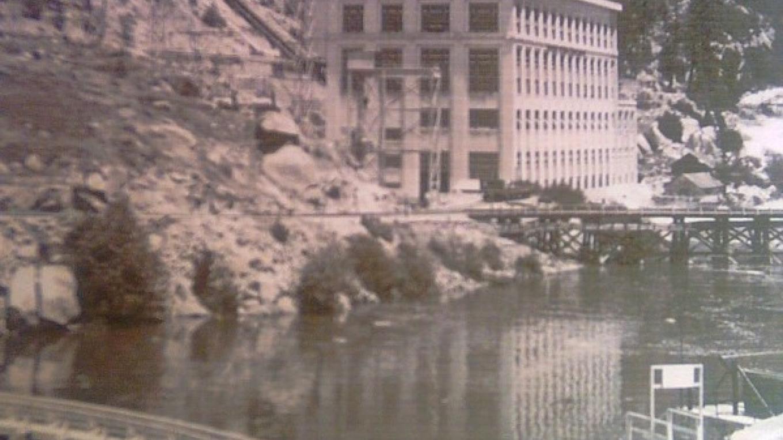 San Joaquin & Eastern Railroad Grade at Dam #4 and Powerhouse #1 at Big Creek