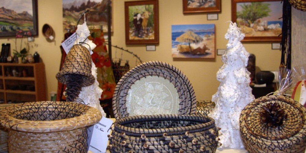 Woven baskets are also shown at the Gallery. – Roxanne Valladao