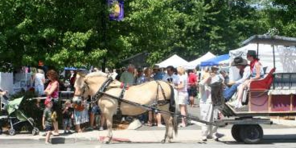 Whether you arrive by foot , bike or carriage, the Satruday Farmer's Market is the place to be.