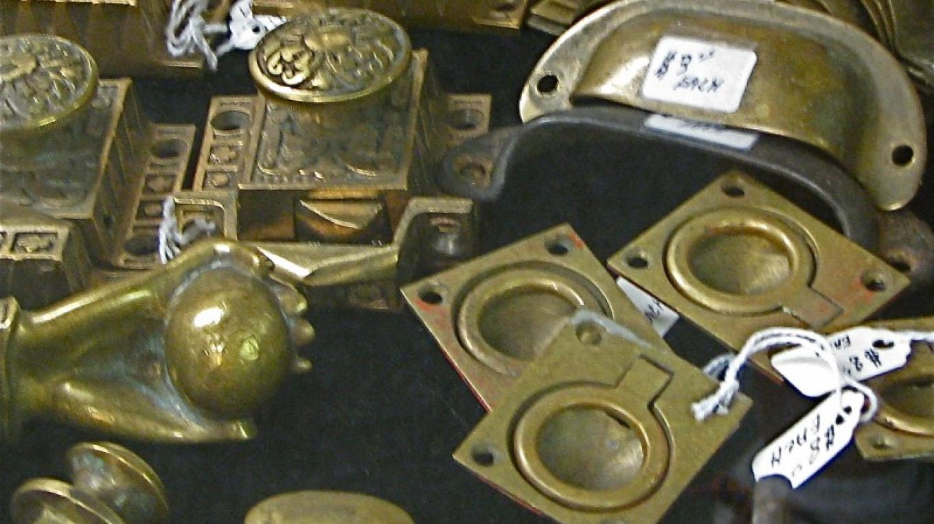 Authentic brass hardware is available for restoration projects. – Karrie Lindsay