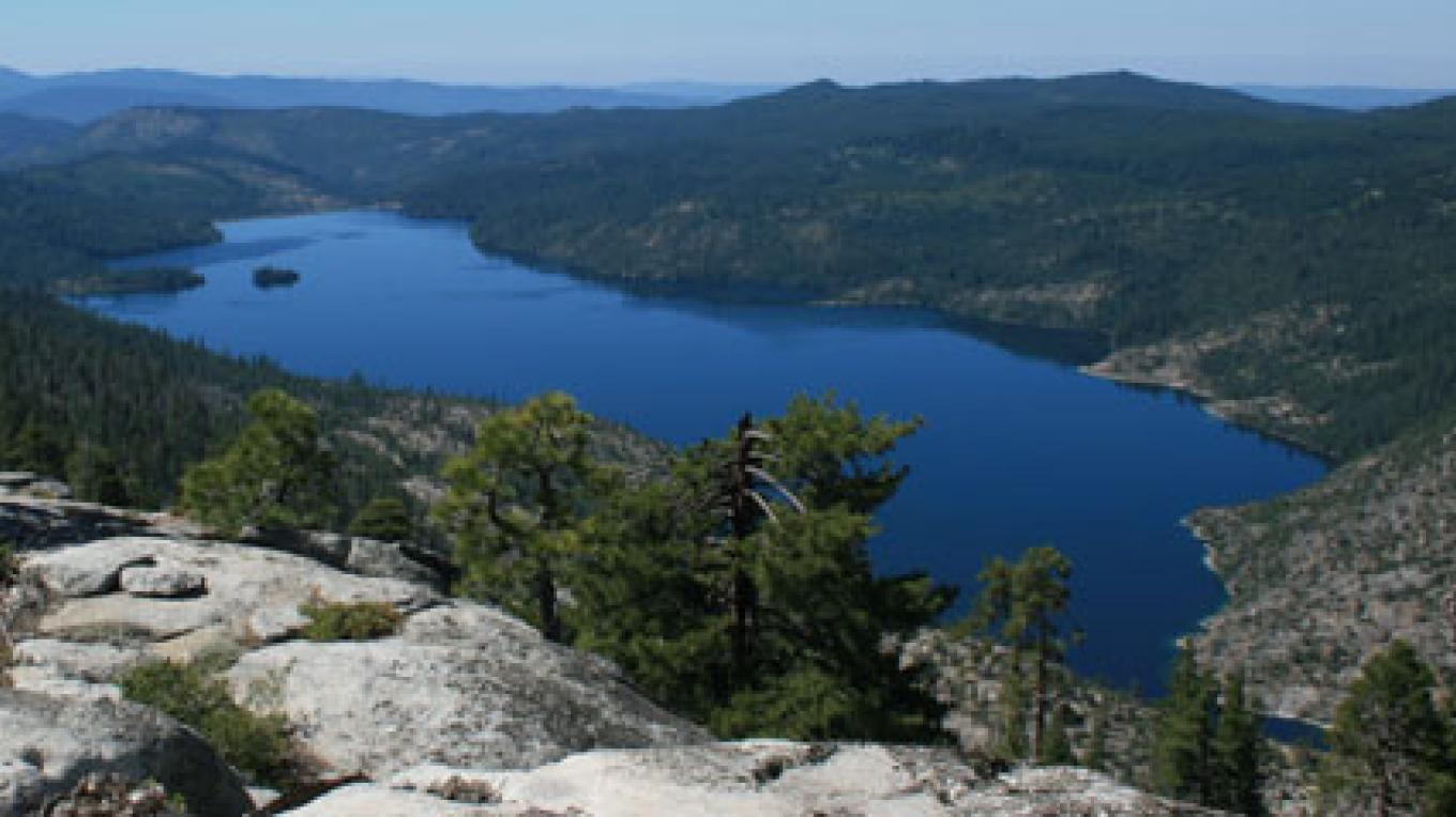 Cherry Lake is the largest alpine lake in this area. – USFS