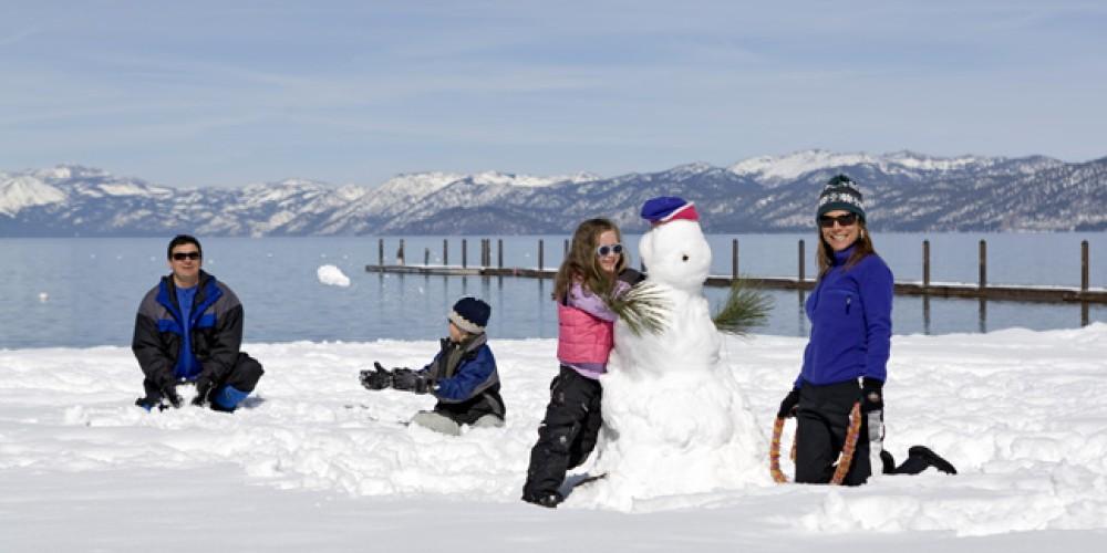 Family fun in winter – Camp Richardson Resort