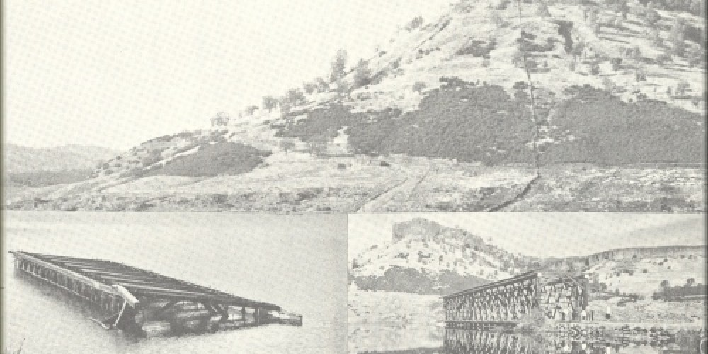 Multiple shots of the bridge, including one of the bridge on its side after much effort to remove it. – Coke Wood oldcorner.com