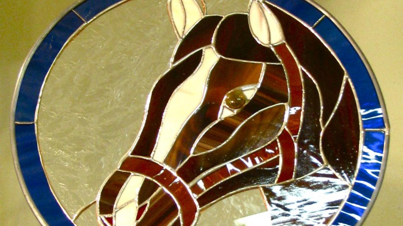 Dan commissions stained glass that highlights many aspects of Amador County. – Karrie Lindsay
