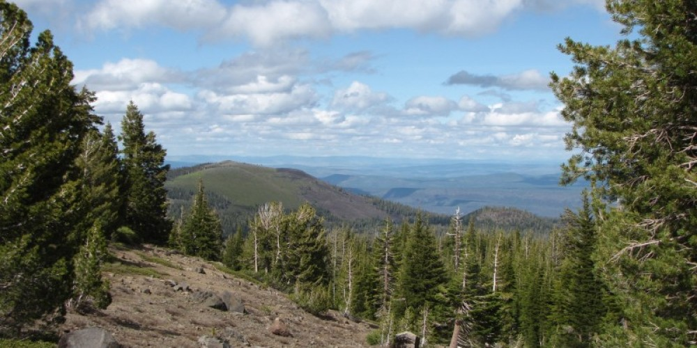 View from the high elevations of Thousand Lakes Wilderness. – Ben Miles