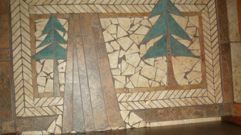 Tile Mosaic Door Mat in Blossom Cottage