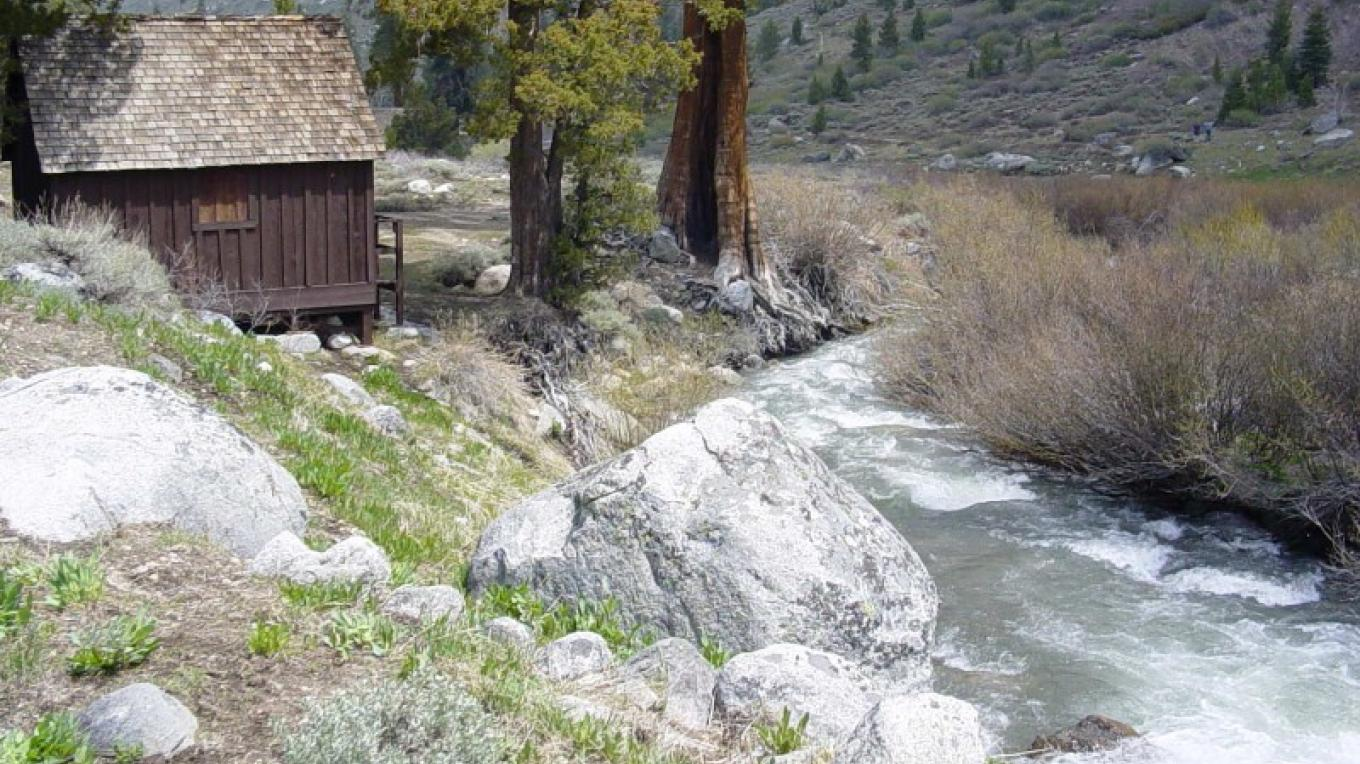 """""""The Honeymoon Cabin,"""" the last remaining resort cabin, is now open to the public with historic photographs and artifacts on display. – The Kaweah Commonwealth"""