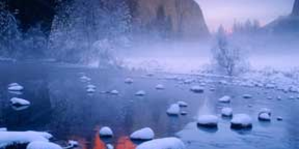 Yosemite winter. – photo by Galen Rowell, Mountain Light Gallery