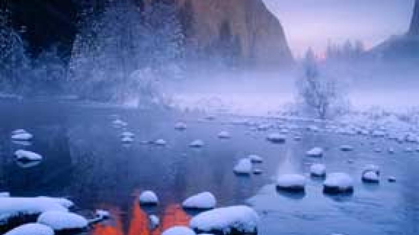 Yosemite winter. – photo by Galen Rowell, Mountain Light Gallery