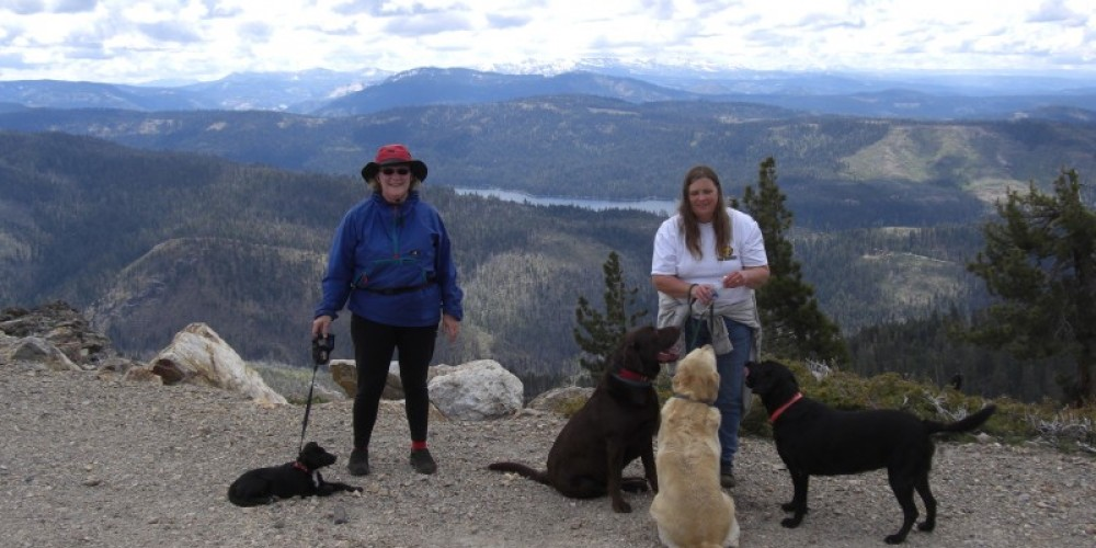 Duncan Peak, French Meadows Reservoir in the distrance – Debbie Griffin