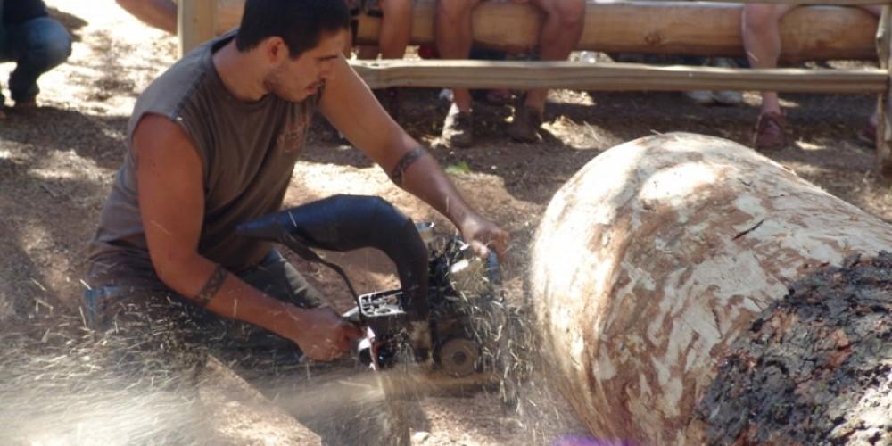 Hot saw at work – Sierra Nevada Logging Museum