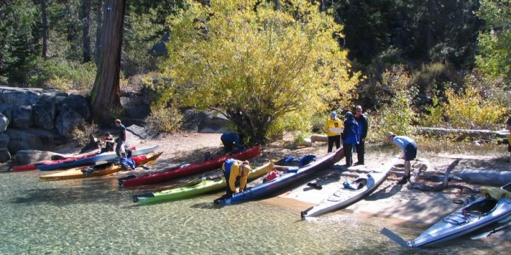 Exploring the shoreline of Lake Tahoe by kayak. – B. Kingman