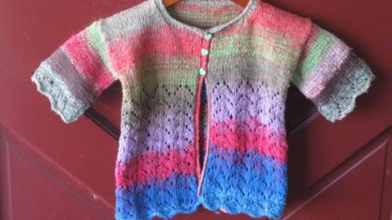 Children's Rita cardigan in Noro Aya – Jana Botkin