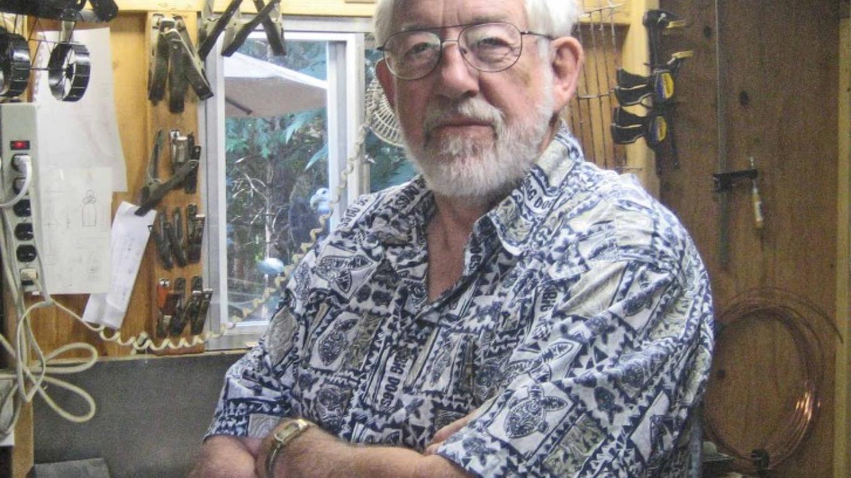 Rich Irwin in his metal arts studio – Beryl Moody