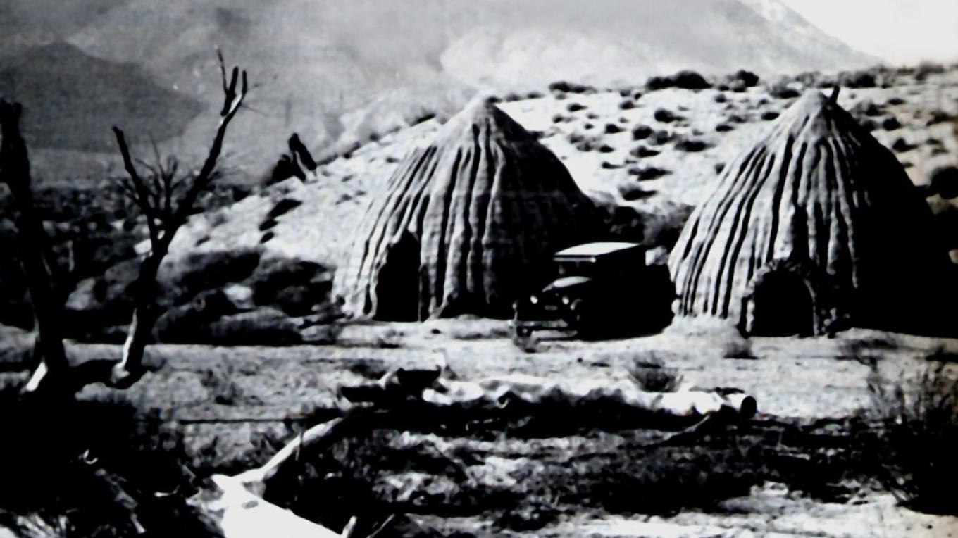 Cottonwood charcoal kilns around 1920.